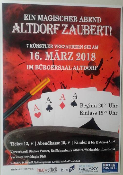 Plakat Altdorf Zaubert