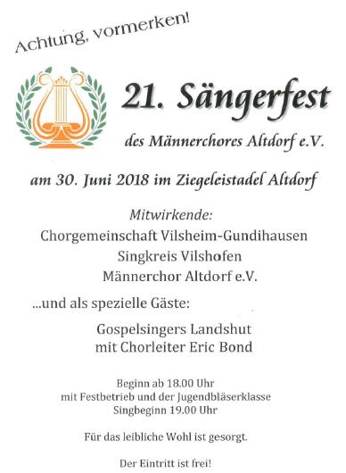 21. Sängerfest