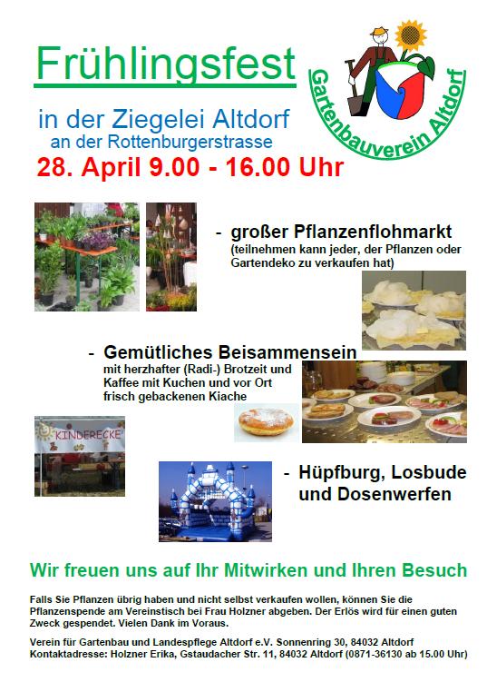 Pflanzenmarkt mit Frühlingsfest 2018