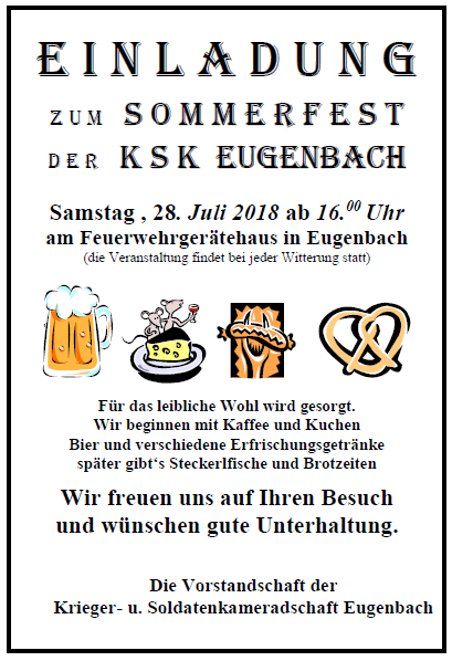Sommerfest KSK Eugenbach 2018