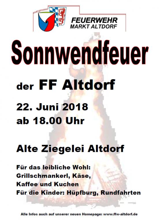 Sonnwendfeuer FF Altdorf 2018