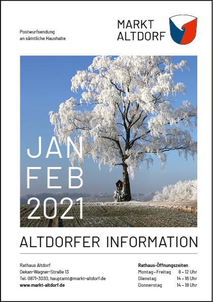 Markt Altdorf Januar Februar 2021 Titelbild